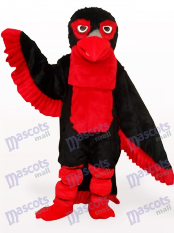 Costume de mascotte adulte aigle long cheveux noirs
