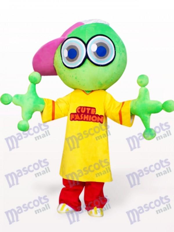 Costume de mascotte adulte vert grenouille grosse tête