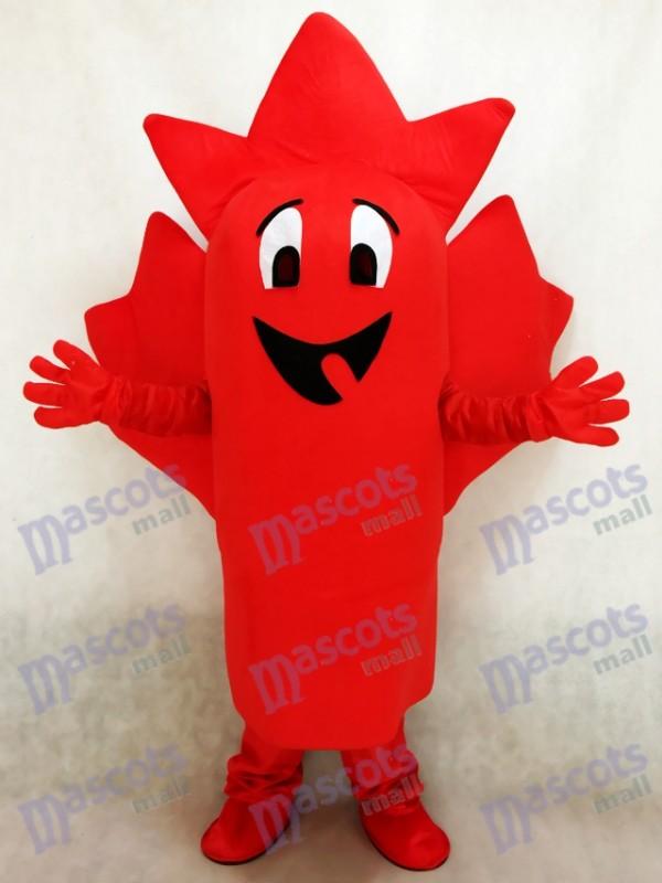 rouge feuille d'érable Costume de mascotte