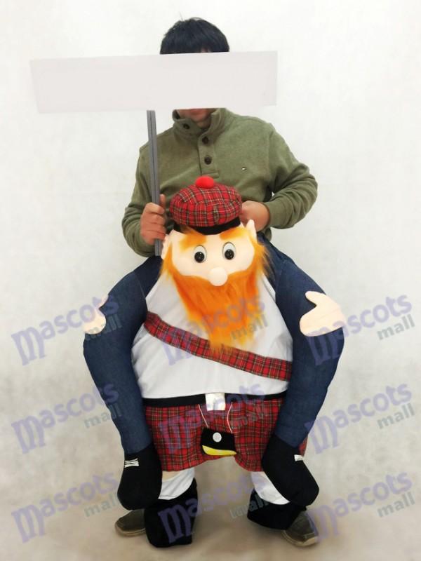 Carry Me Costume de mascotte écossaise Ride On Piggy Back Scotsman