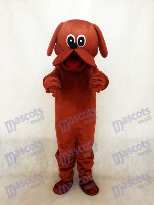 Costume de mascotte de chien rouge roux mignon Rooney