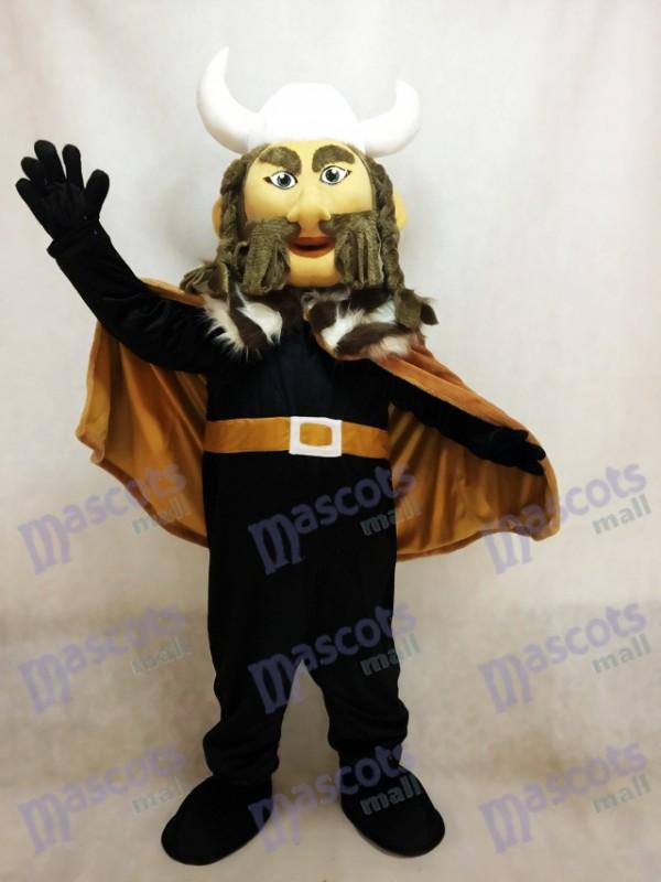 Thor le costume de mascotte viking géant avec casque blanc