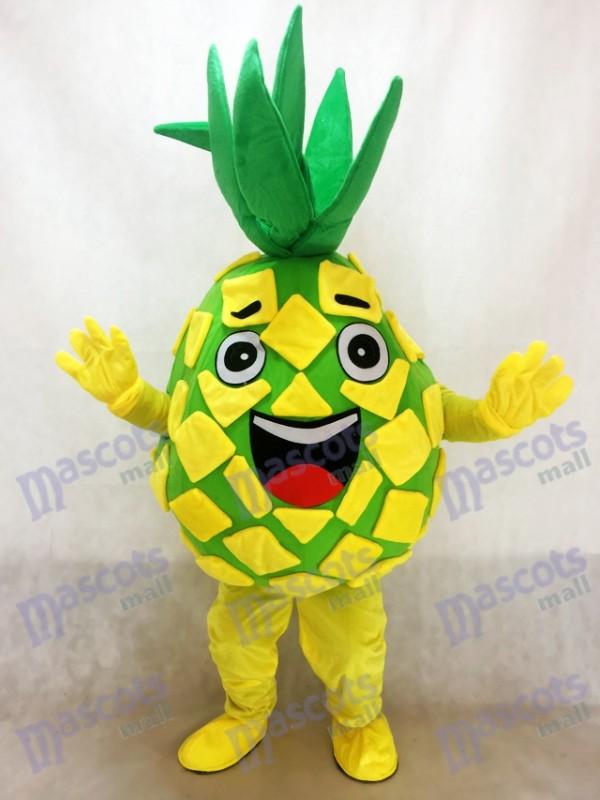 Ananas jaune Pete mascotte Costume Fruit