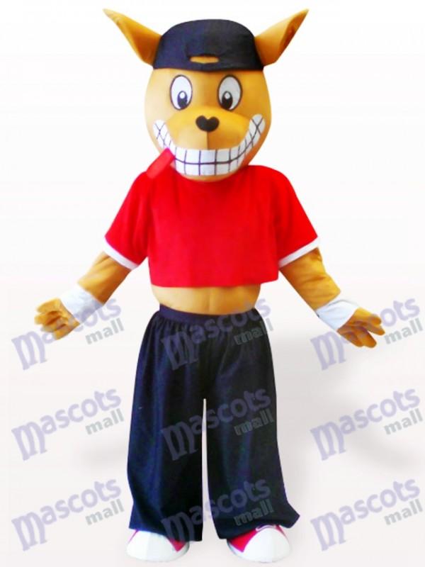 Costume de mascotte en bois kangourou adulte