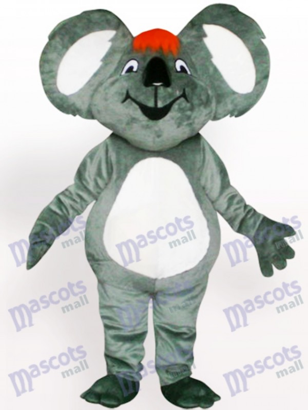 Koala avec costume de mascotte adulte cheveux orange
