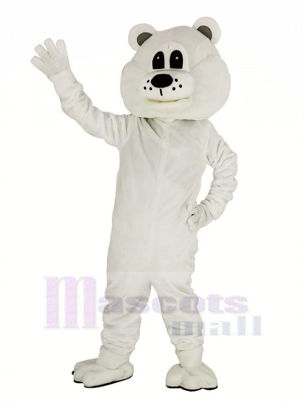 Mignonne blanc Ours Mascotte Costume Adulte