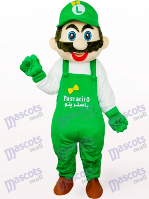 Vert Luigi Pologne Capitaine Mario Anime Costume Mascotte Adulte
