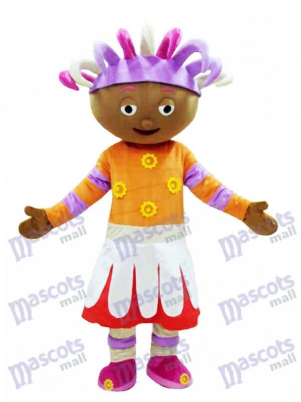 Costume de mascotte Daisy Upsy dans le Costume de mascotte de jardin de nuit