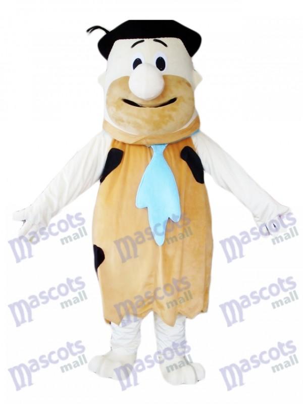 Fred Flintstone Costume de mascotte sauvage de l'âge de pierre moderne brun