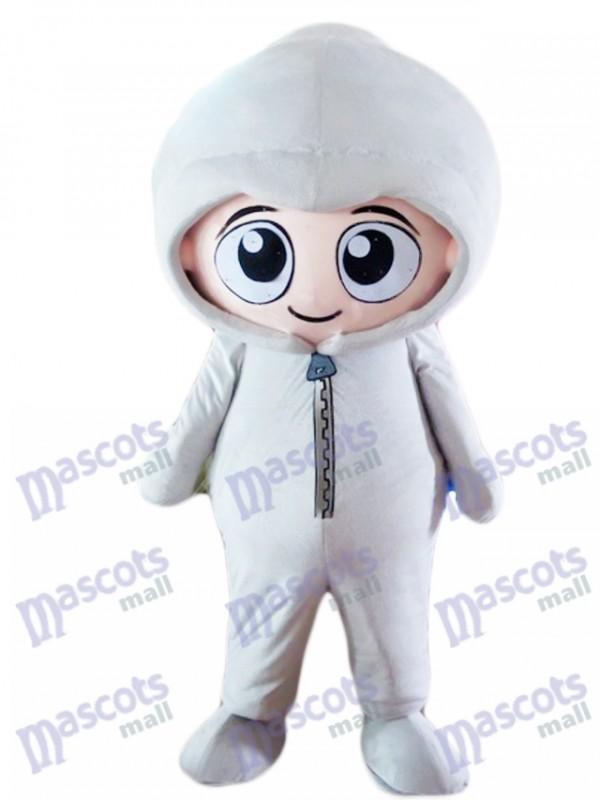 Costume de mascotte bébé garçon à capuche gris