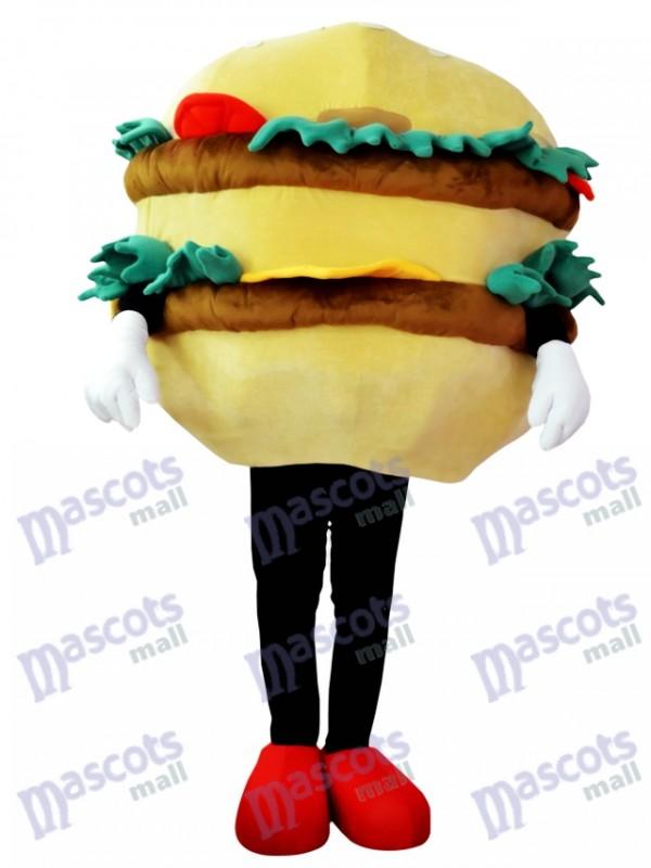 Hamburger avec costume de mascotte au fromage Aliments