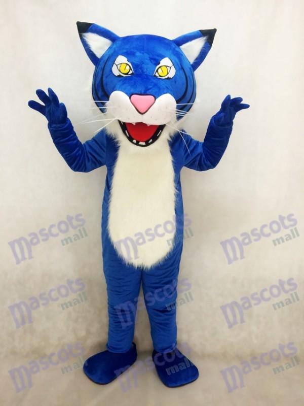 Costume de mascotte sauvage adulte bleu royal féroce
