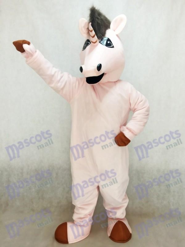 Nouveau Costume de Mascotte Rose Unicorn Eunice