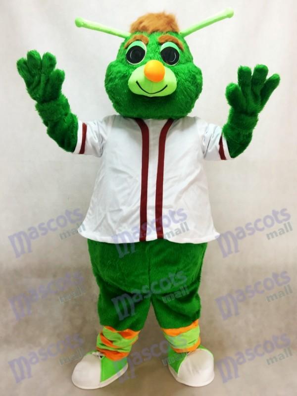 Déguisement de mascotte Guilford le Grasshopper vert