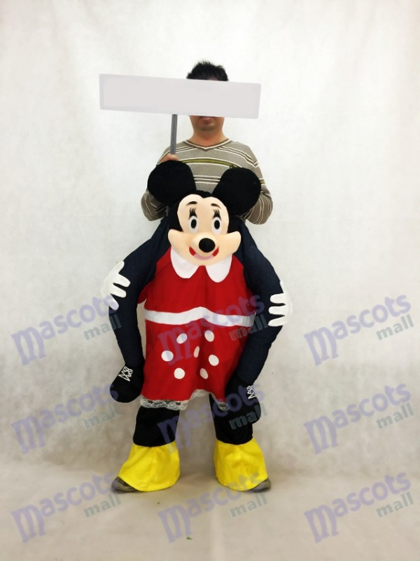 Minnie Mouse porte moi Ride Piggyback Minnie Mouse Costume de mascotte