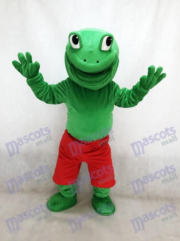Nouvelle Grenouille Verte avec Red Shorts Mascotte Costume Animal