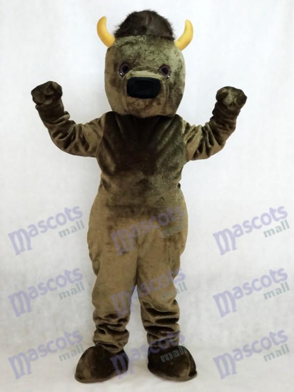 Marshall Thundering Herd Costume de mascotte de Buffle Marco the Bison Marshall University