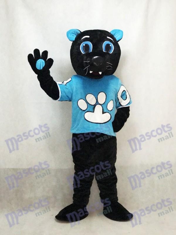 Monsieur Purr du costume de mascotte de panthères de la Caroline de la Ligue nationale de football