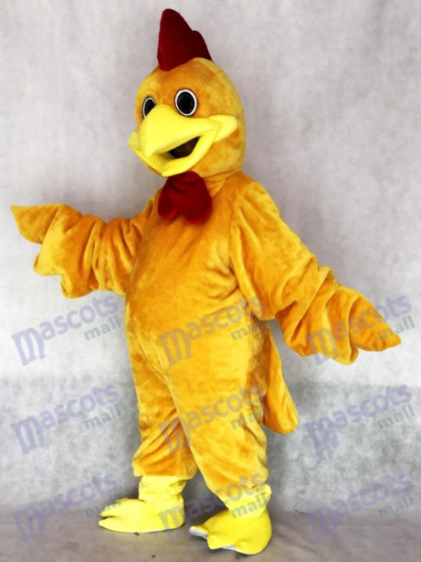 Mignon réaliste roux coq mascotte Costume Animal
