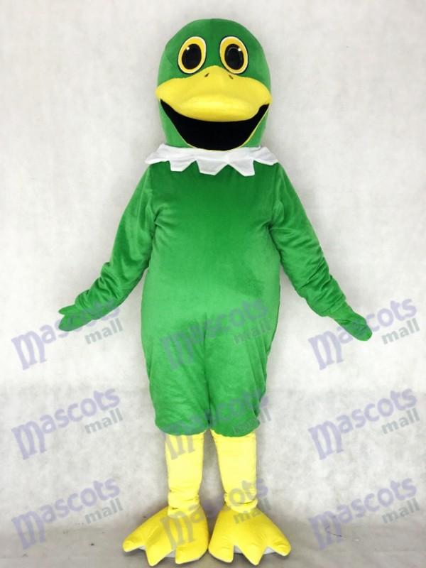 Costume de mascotte canard colvert vert entier mignon Animal