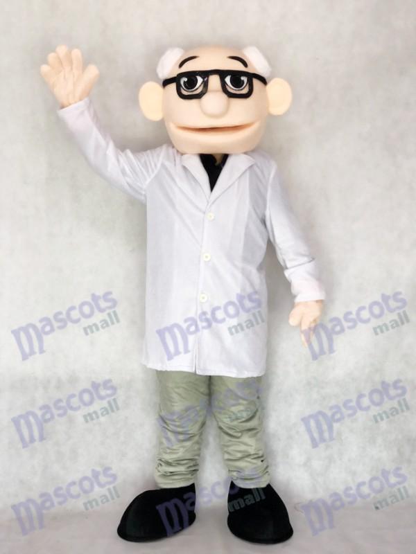 Nouveau costume de professeur de mascotte de docteur