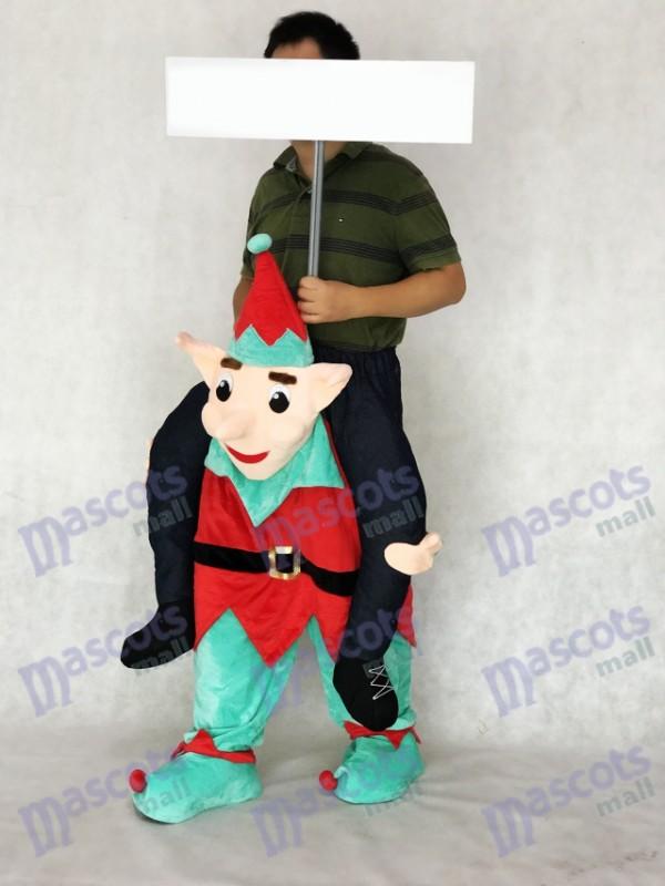 Elf Carry Me Piggy Back Ride sur Costume de mascotte de fantaisie