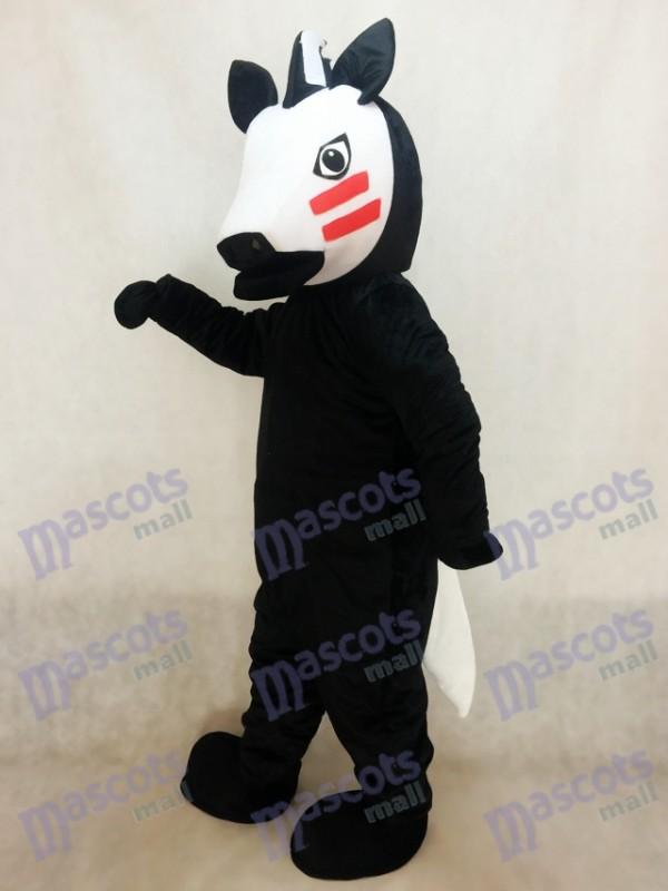 Costume de mascotte de cheval de Troie noir