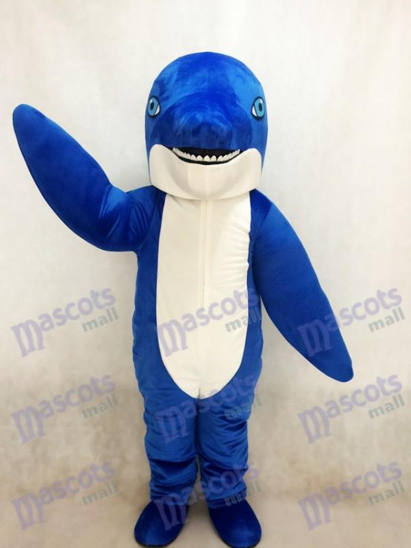 Nouveau Costume de mascotte de dauphin bleu
