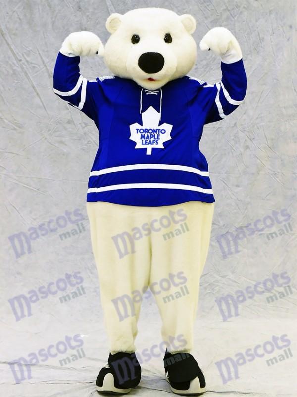 Carlton l'Ours de Toronto Maple Leafs Costume mascotte ours polaire Animal