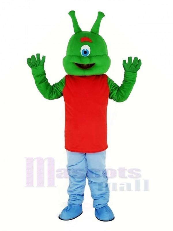 vert Extraterrestre Mascotte Costume Dessin animé