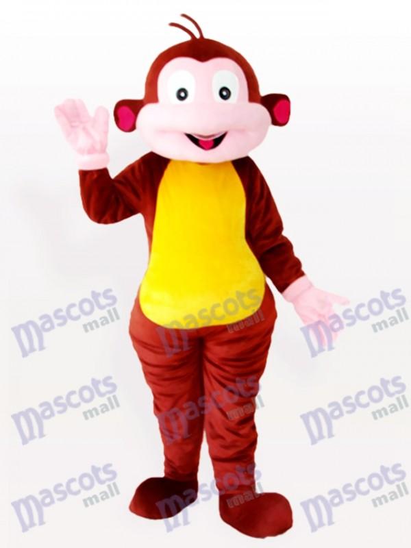 Costume de mascotte animal marron singe Cartoon