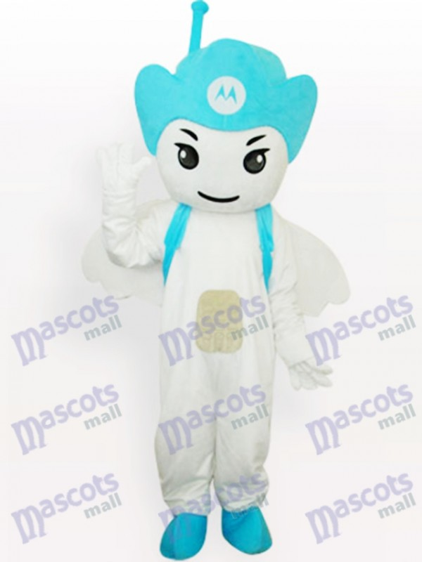 Costume de mascotte adulte Blue Moto Angel Party