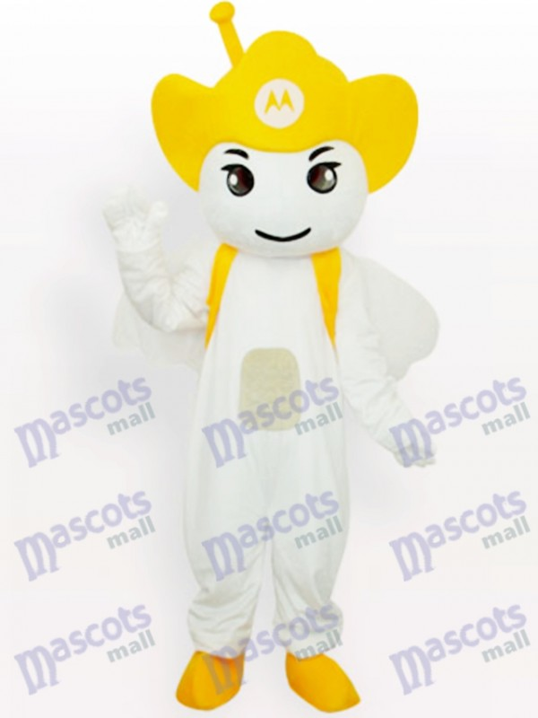 Costume de mascotte adulte jaune Moto Angel Party