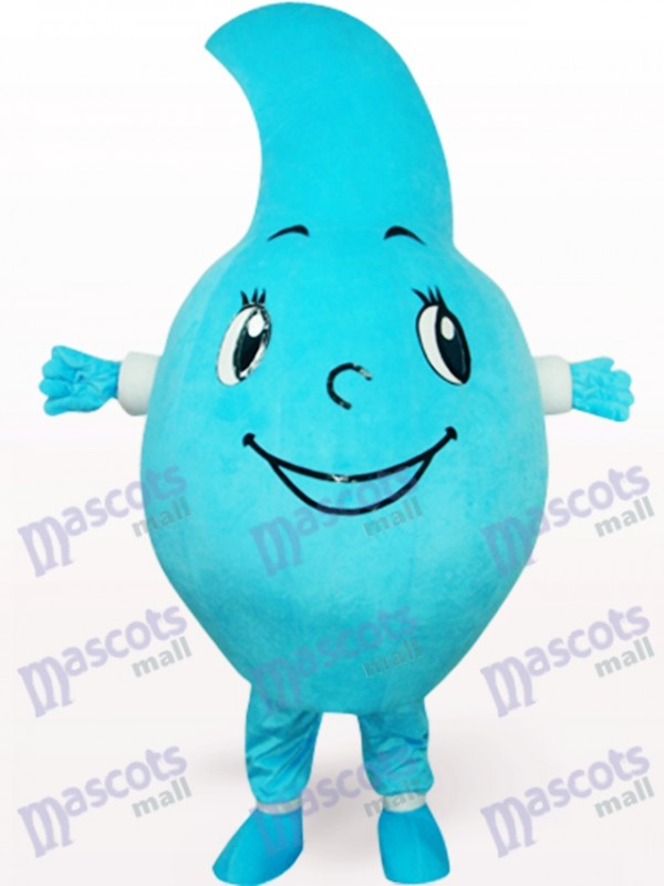 Costume bleu de mascotte de partie de goutte d'eau
