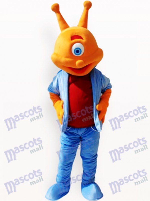 Costume drôle de mascotte adulte Alien Alien