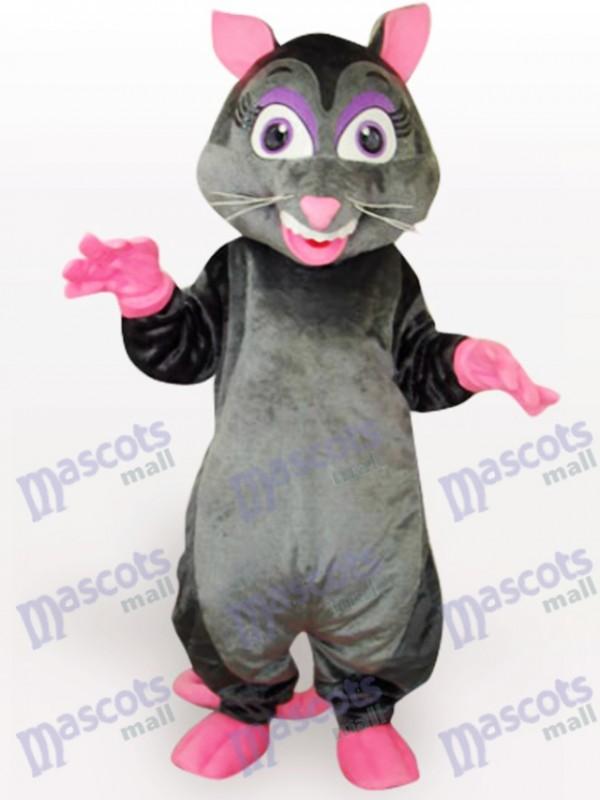 Costume de mascotte animal souris noire