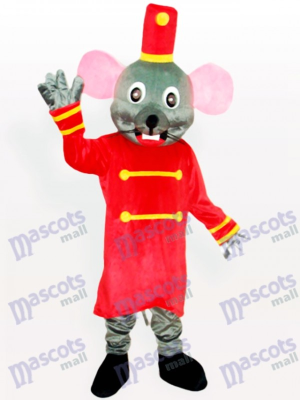 Souris gris le costume de mascotte animal de garde-porte