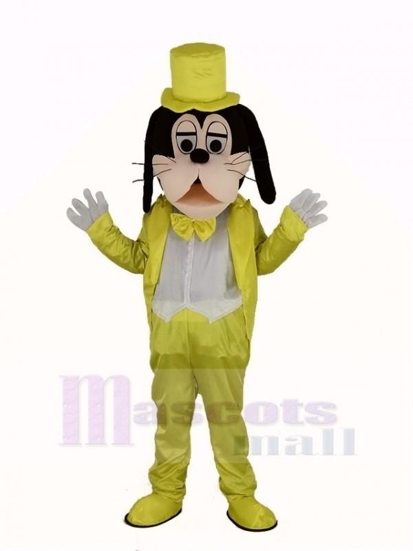 Goofy Chien dans d'or Manteau Mascotte Costume