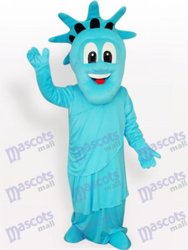 Costume de mascotte adulte bleu de la statue de la liberté