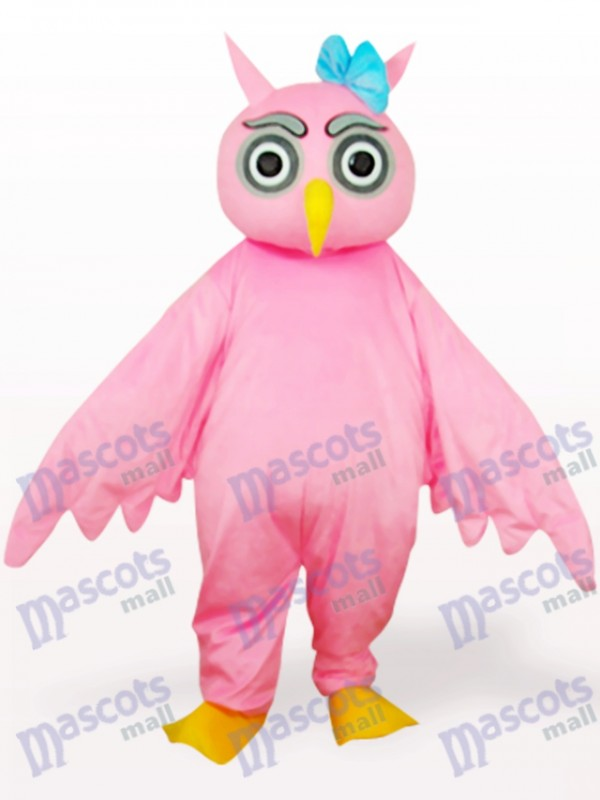 Costume de mascotte adulte rose hibou animal