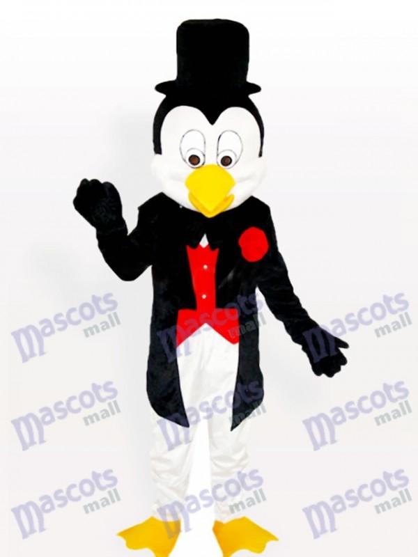 M. Penguin en smoking et chapeau de melon Costume de mascotte adulte