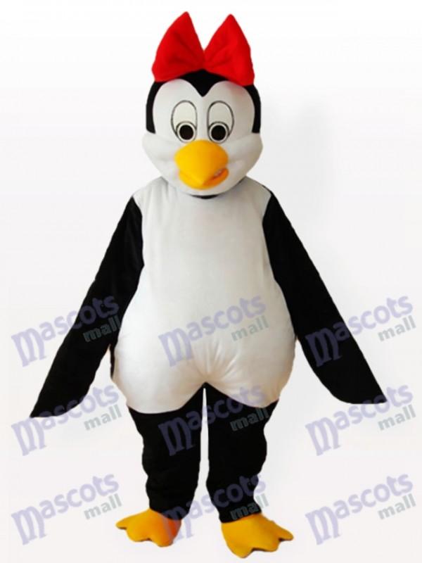 Pingouin de Cutie avec Bowknot rouge sur le Costume de mascotte adulte tête