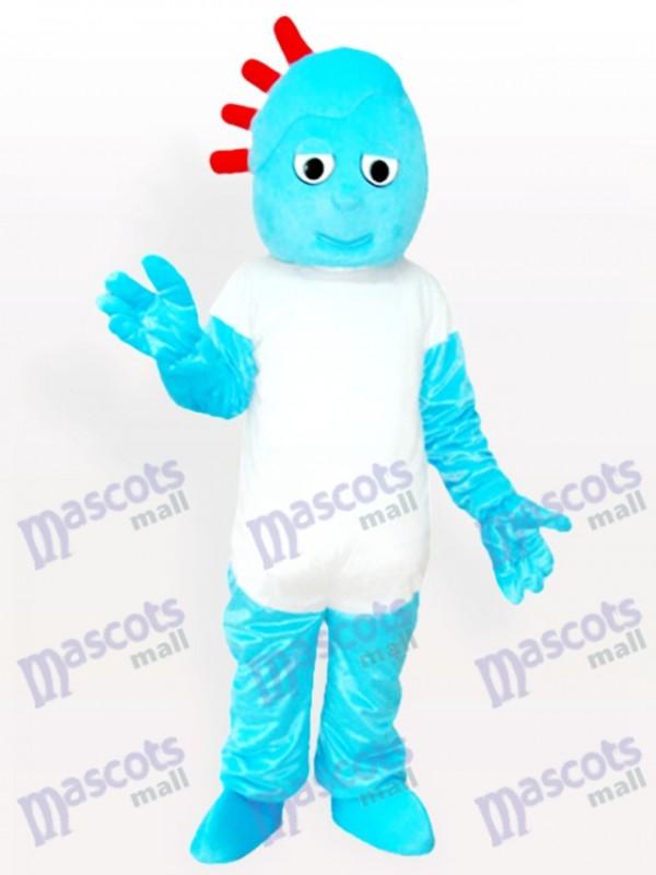Costume de mascotte adulte de dessin animé vilain garçon