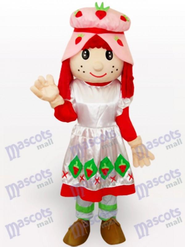 Costume de mascotte adulte Cartoon Strawberry Shortcake Girl