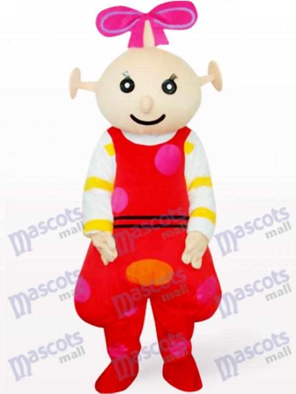 Costume de mascotte adulte Beibei Anime rouge femelle