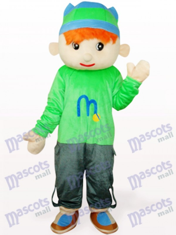 Costume de mascotte adulte mignonne Doudou garçon bleu