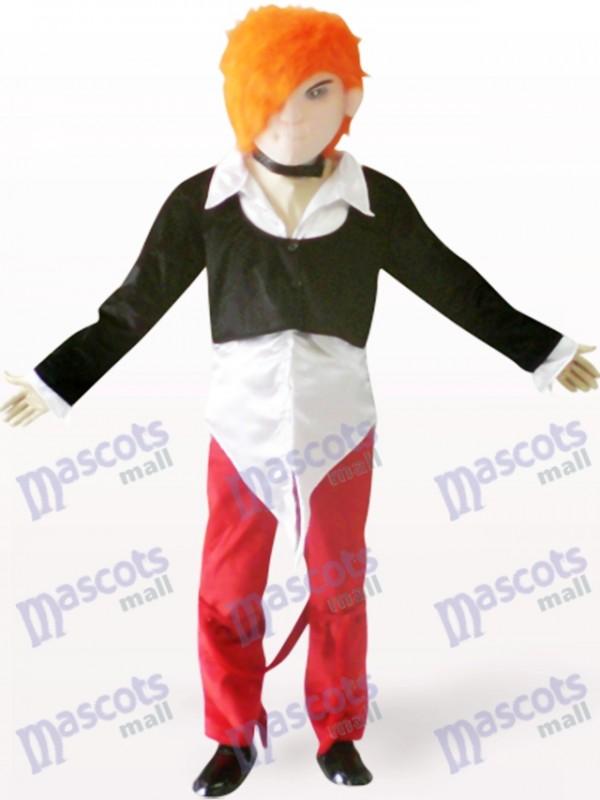 Costume de mascotte adulte de dessin animé beau garçon