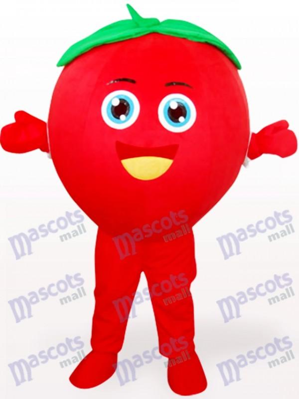 Costume de mascotte adulte de fruits tomates souriant