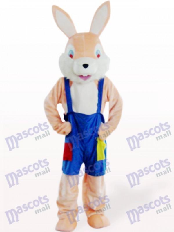 Costume de mascotte de lapin lapin rose de Pâques