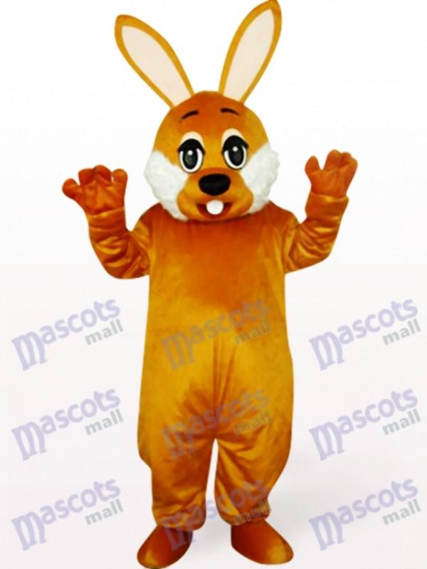 Costume de mascotte animaux lapin brun de Pâques